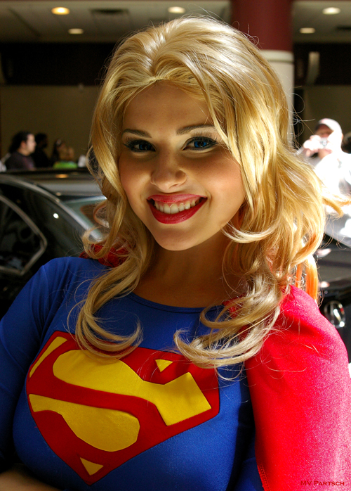 Supergirl: crazyloveangelface ® MegaCon. Orlando. 2011. Exhibit Hall Lobby Entrance. Portrayed by the Astonishing Cosplay Model & Actress *Milla Bishop*!